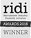 RIDI Awards winner 2018 logo