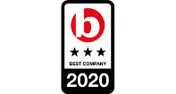 Best Company 2020 logo with 3 stars