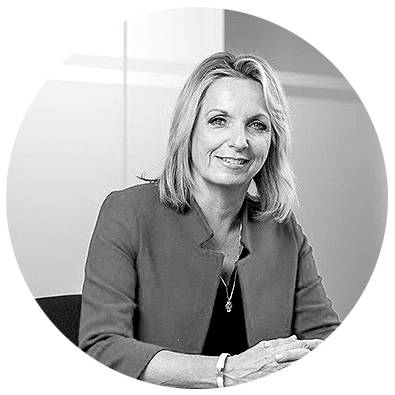 Julia Robertson, Impellam Group CEO, black and white